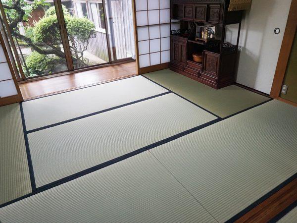 国産の藺草畳表を張り付けた最高級クラスの畳