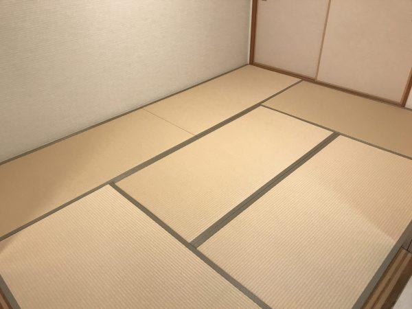 白茶色の和紙畳の施工後