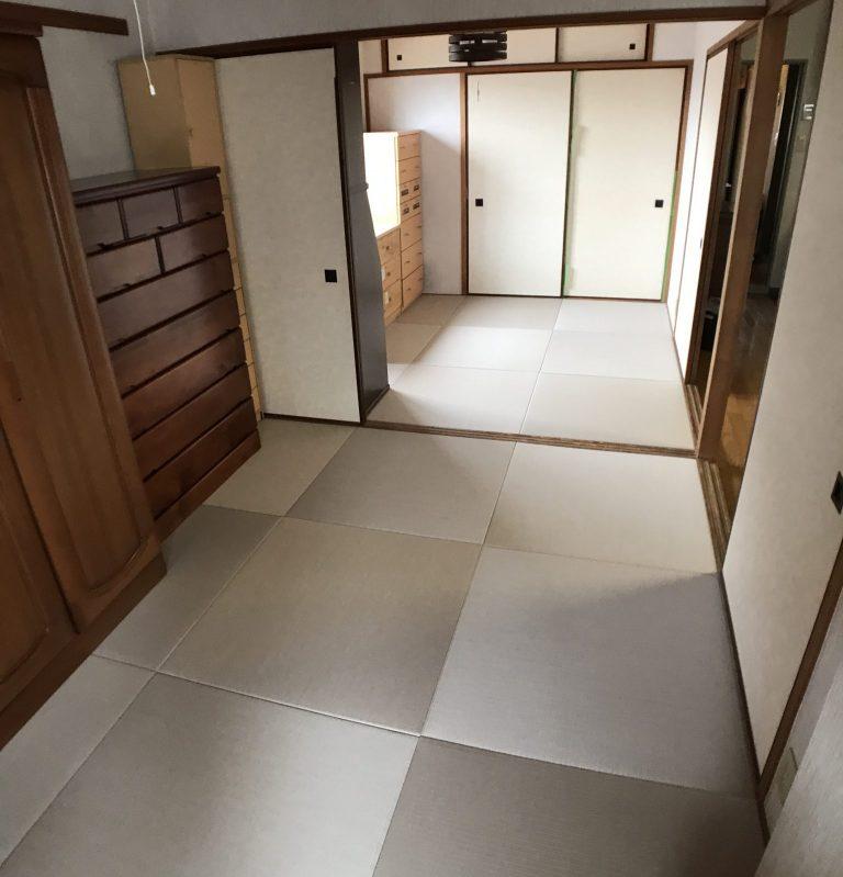 灰桜色の和紙畳(琉球畳)