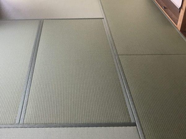 施工後の和紙畳