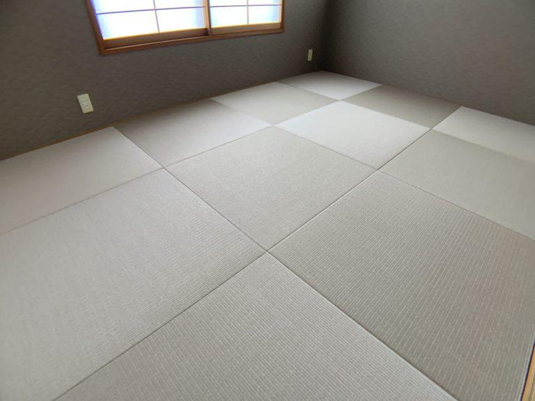 灰桜色の和紙畳