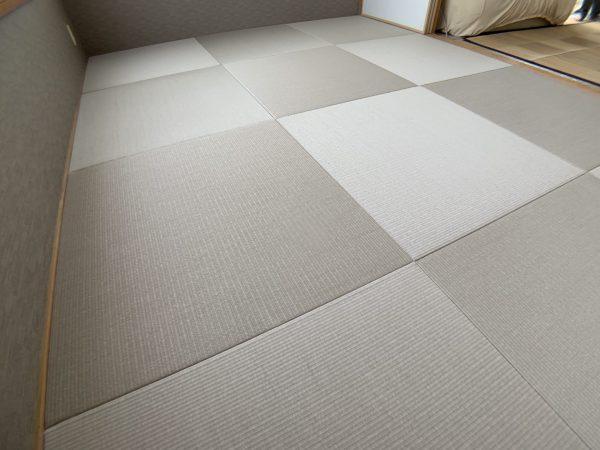 張替えた後の和紙畳
