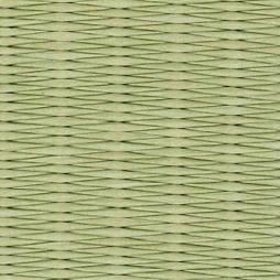 銀白色の和紙を使用した縁なし畳の見本