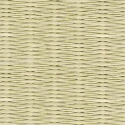 若草色の和紙を使用した縁なし畳の見本