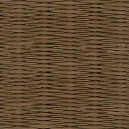 胡桃色の和紙を使用した縁なし畳の見本