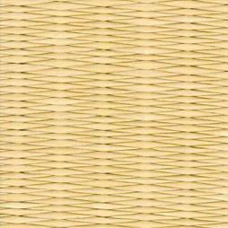 黄金色の和紙を使用した縁無し畳の見本