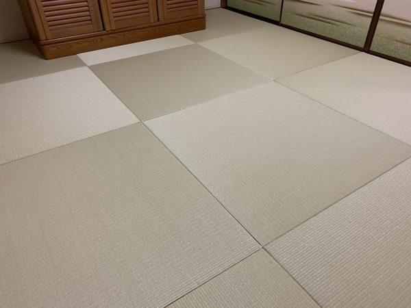 新調後の和紙畳