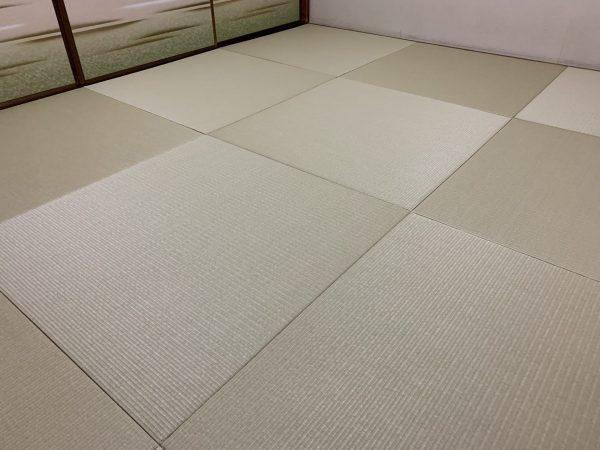 和紙畳の若草色